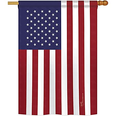 Amazon Com Breeze Decor Usa Americana Everyday Impressions Decorative Vertical House Flag 28 X 40 Printed In Usa Garden Outdoor