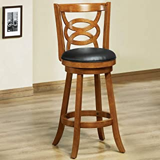 Monarch Specialties I Solid Wood High Swivel Barstool, Set of 2, 42