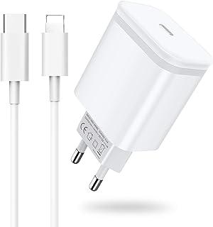 AXIULOO 20W USB C Cargador Replacement for iPhone 12/12 Mini/12 Pro/12 Pro Max/11, Carga Rapida Tipo C Adaptador y 2M Cabl...