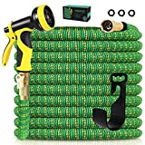 Knoikos Expandable Garden Hose 50ft - Expanding Water Hose with 10 Function High Pressure Nozzle,...
