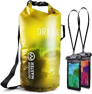 OUTDOORMASTER一年保証 ドライバッグ 防水バッグ プールバッグ 防災バッグ アウトドア用 スマホ用 防水ケース 二つおまけ 収納バック 防水 収納袋 防水リュック 防水ポーチ付 旅行袋 10L 20L 30L