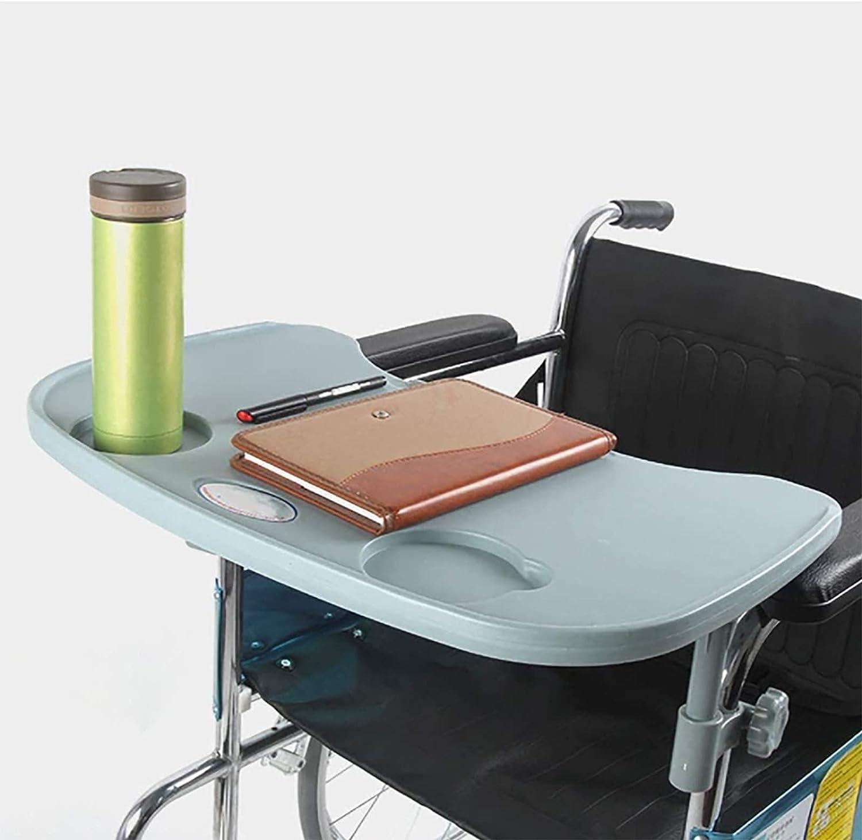 PRWERIF Mesa de Bandeja para Silla de Ruedas, Escritorio de Bandeja Universal extraíble portátil con portavasos para Comer, Leer y Descansar