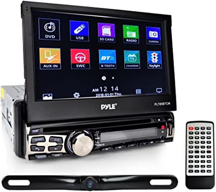 $134 Get Pyle Car Stereo Receiver System & Backup Camera Kit Touch-Screen Headunit Radio CD/DVD Player | Bluetooth Wireless Streaming | Hands-Free Talking | USB/MP3/AUX/AM/FM Radio | Single DIN (PLT85BTCM)