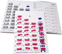 Monthly Cold Seal Medication Blister Pack System Cards - One Piece Unit Dose Book Fold, Easy No Extra Equipment Needed, Just Fill and Seal, (31 Day Monthly - 6 Pack)