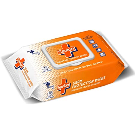 Savlon Germ Protection Multipurpose Thick & Soft Wet Wipes with Fliptop lid - 72 Wipes Multi Purpose