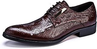 [HAPPYDAY] ビジネスシューズ メンズ 本革 外羽根 革靴 紳士靴 大きいサイズ 3E ビジネス ロングノーズ 脚長 トレンド 冠婚葬祭 結婚式 黒 赤 ブラック ワイン 男性の レースアップシューズ カジュアルシューズ 23.5cm-28cm