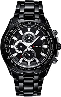 Curren Watchs for Men's Waters Resistant Stainless Steel Casual Chronograph Watch SW0115