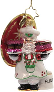 Christopher Radko Sugar and Spice Santa Gem Christmas Ornament
