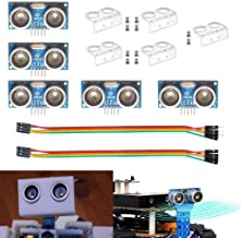 DAOKI 5PCS Ultrasonic Module 5Pin DC HY-SRF05 Distance Measuring Transducer Sensor 5V for Arduino + 5PCS Jumper Wires Female to Female,Male to Female 5 PIN + 5PCS Mounting Bracket + 10PCS Screw