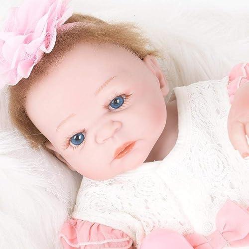 Hongge Reborn Baby Doll,Lebensechte Silikon Baby Reborn Puppe Realit Neugeborenen Kinder Spielzeug Geschenk 5cm Puppe