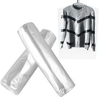 OUNONA 50pcs 60100cm Dry Cleaning Bags Garment Clothes Dust Cover Disposable Dust Shield Suit Bag