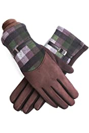 Zhang chen fu Mens Winter Touch Screen Plus Velvet Warm Non-Slip Sports Riding Leather Gloves Windproof