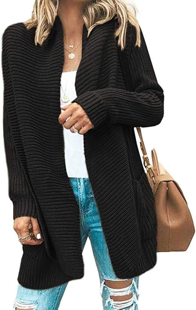 Aiopr Womens Draped Cardigans Cash special price Super beauty product restock quality top! Open S Sleeve Oversized Long Front
