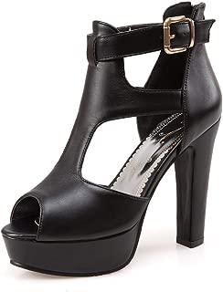Platform Sandals for Women High Heels Strappy Peep Toe Sandal Summer Boots Office Pumps