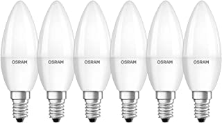 OSRAM LED Star Classic B / LED lamp, Classic Mini Candle Shape, with Screw Base: E14, 5 W, 220…240 V, 40 W Replacement, Fr...