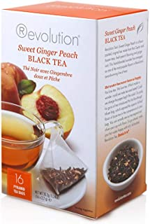 Revolution Tea Sweet Ginger Peach Tea, 16-Count Teabags (Pack of 6)