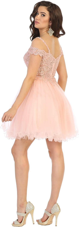 Formal Dress Shops Inc FDS1668 Off The Shoulder Homecoming Cocktail Dress
