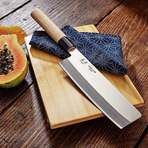 Stellar Usuba Samurai Kochmesser, 16cm/61, Edelstahl, Silber, 40.4 x 10.1 x 3 cm