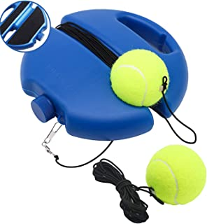 Tennis Trainer Rebound Ball, Return Baseboard Self Training Tool with 2 Ball, Solo Tennis Practice Trainer, Tennis Training Tools for Kids Adults Beginners