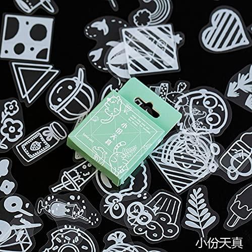 PMSMT 50 unids/Caja Vintage Blanco Encaje Transparente Kawaii decoración Pegatinas planificador Scrapbooking papelería Diario japonés Etiqueta Adhesiva