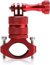 Gobesty Soporte de Bicicleta para cámara de acción, Soporte de Manillar de Bicicleta de cámara de acción, Soporte de Bicicleta para Gopro Aluminio, 360 Grados Soporte de Rack de rotación (20-34 mm)