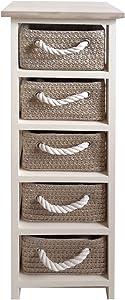NAPOLI Meuble de salle de bain L 29 cm - Blanc et beige laqué