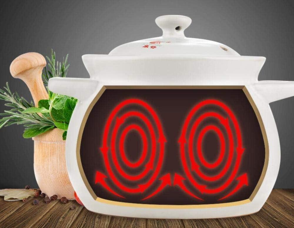 YWYW Casserole en céramique pour cuisinière avec Couvercle résistant à la Chaleur, Casserole en grès Pot de Soupe à Cuisson Lente Bibimbap, 4,5 L 3.5l