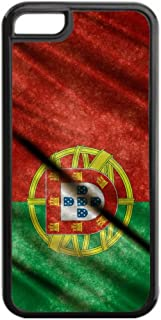Portugese Flag-Portugal-TM Apple iPhone 5, 5s Black Plastic Protective Phone Case Made in the USA