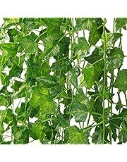 MARTHA&IVAN Kunstmatige klimop ¨CFake Ivy Garland Decoraties, Nep Planten, Nep Wijnstok, Wijnstok Decoratie voor Bruiloft, Feest, Tuin, Woondecoratie