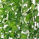 MARTHA&IVAN 42 pièces de Lierre Artificiel Lierre Artificiel-Plante Artificielle,Feuilles Artificielles,Faux Lierre pour Decoration Jardin …