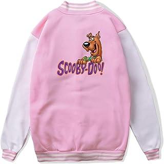 VJJ AIDEAR The Scooby Doo Baseball Uniform Jacket Sport Coat Girl Long Sleeve Hoodie Outwear Black