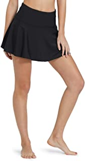 BALEAF Women's Swim Skirt High Waisted Flounce Swimming Skort Bikini Bottom Tankini Swimsuit