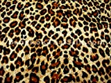 44'' Wide Call of The Wild Cheetah Tan Brown Fabric by The Yard