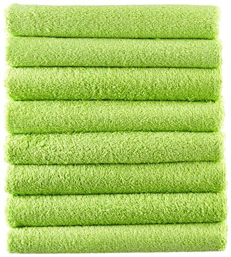NatureMark 8X, 100% Baumwolle Handtuch, Grün, 8er Pack 50x100cm, 8