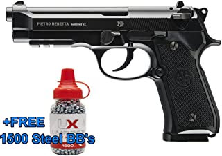 Umarex Beretta Fully Licensed 92A1 CO2 Full Metal Semi/Full Auto Blowback Airgun Black W/Free 1500 .177 BB - HSA is A Real Manufacturers Authorized Dealer Since 1999