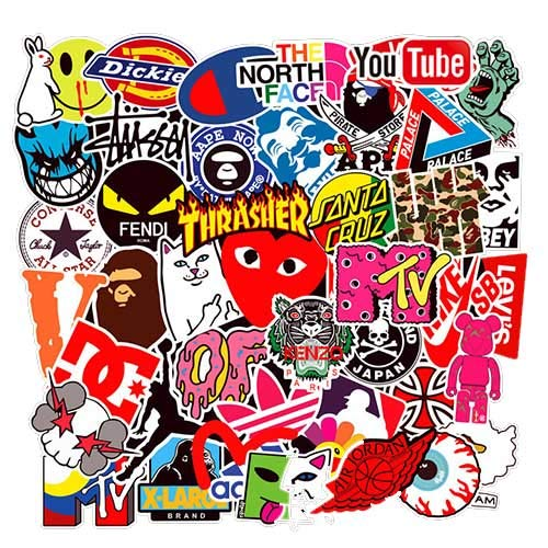 que choisir 101pcs New Life Street Fashion Sticker Set, bouteille d'eau, Snowboard, bagages, moto, iPhone, MacBook, meilleur vinyle autocollant pour ordinateur portable pour mur choix
