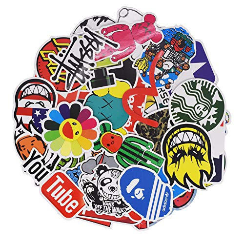 Cool Brand Logo Stickers Pack for Teens Kids Water Bottle Laptop Computer Skateboard Snowboard Helmet Stickers Vinyl Waterproof Bulk Tot Pack 100PCS