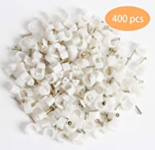 SBYURE 400 Pieces Cable Staples Clips Management Ethernet Cable Nails Tacks Clips for Cat6 Cables - 7mm
