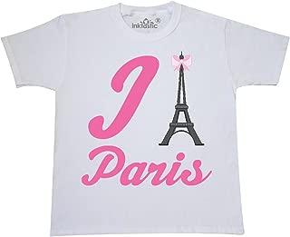 inktastic I Love Paris Eiffel Tower Youth T-Shirt