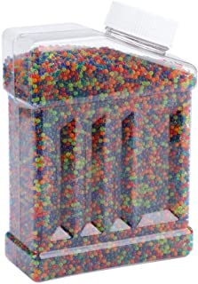 Water Beads for Kids, 40000pcs/Bottle 9-11mm Colored Soft Crystal Beads Water Jelly Beads Gel Water Growing Beads Water Gun Bullets for Kids Tactile Sensory Toys, Vases, Plants, Wedding, Party