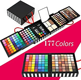 Professional Makeup 177 Colors Academy Professional Eyeshadow Palette- Ideal for Professional and Daily Use (02#)