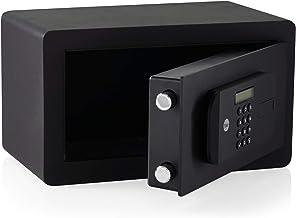 Coffre-fort motorisé haute sécurité avec empreintes digitales compactes.