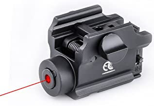 MCCC 650nm Red Laser Sight Red Dot Sight for Pistols Rail Mounted with Remote Pressure Switch