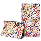 OZADE iPad 10.2 8th 7th Generation Case Without Keyboard PU Leather Folio Smart Cover Built-in Pencil Holder for iPad 10.2/iPad Air 3 10.5/iPad Pro 10.5,Smiley Face