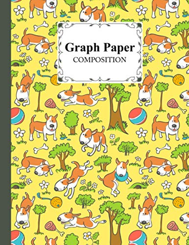 Graph Paper Composition Notebook: Dogs Dogs Graph Paper Composition, Grid Paper Notebook, Quad Ruled, 100 Sheets, Size 8.5