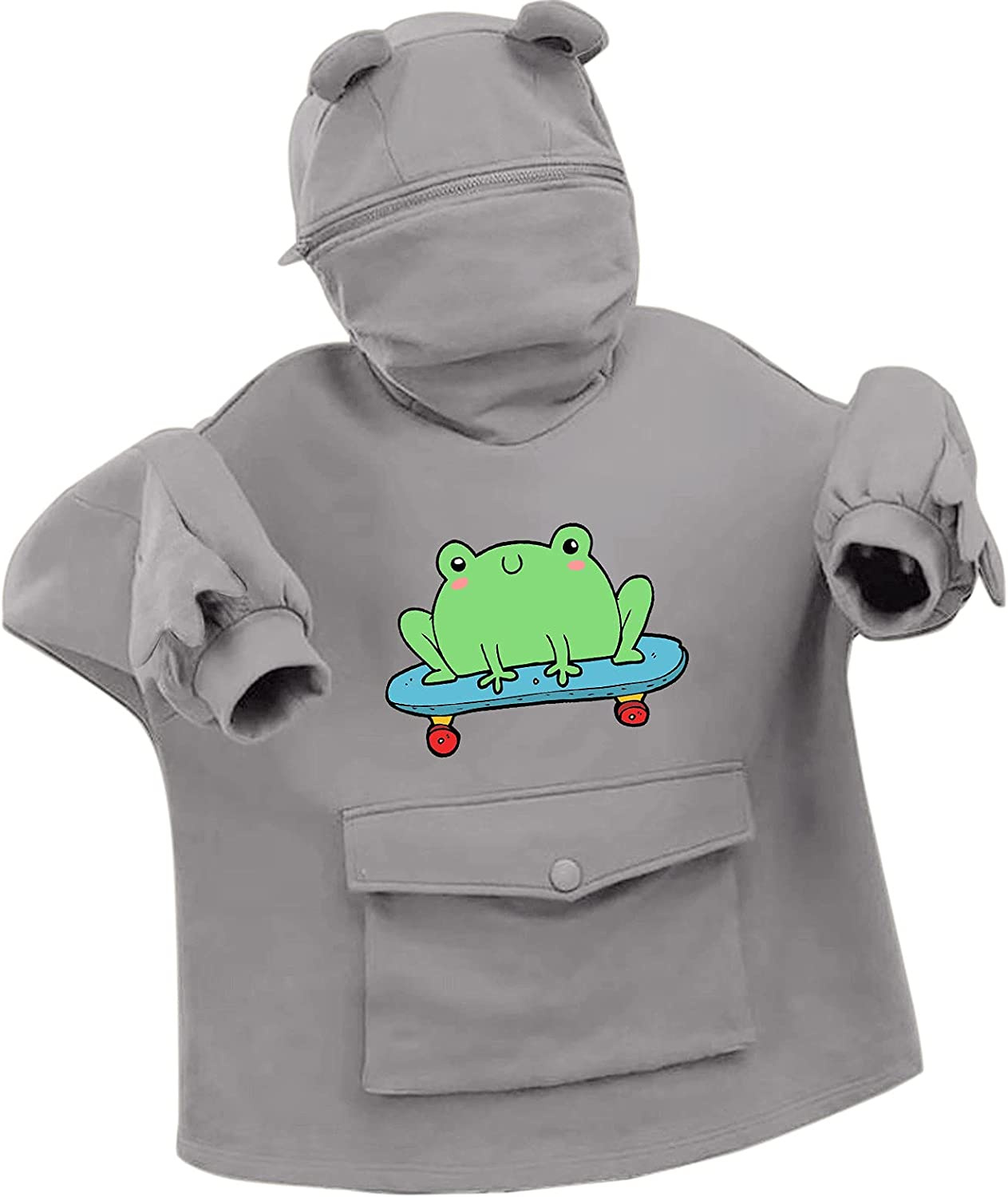 Dallas Mall Sales of SALE items from new works Lousioa Women's Stitching Three-Dimensional Print Frog Sweatersh
