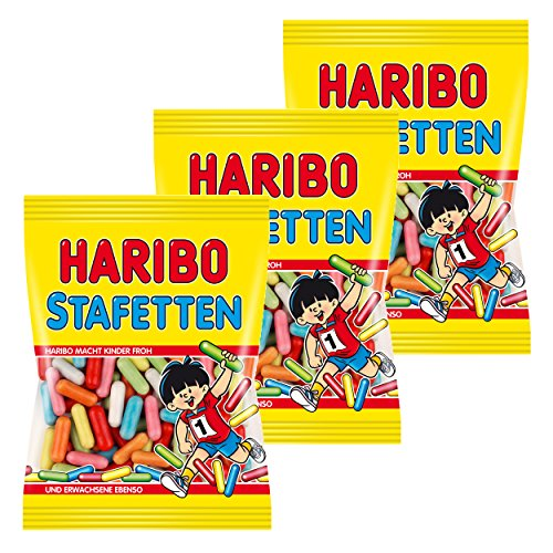 Haribo Stafetten, 3er Pack, Lakritz, Süßigkeit, Nascherei, Im Beutel, Tüte, 200 g