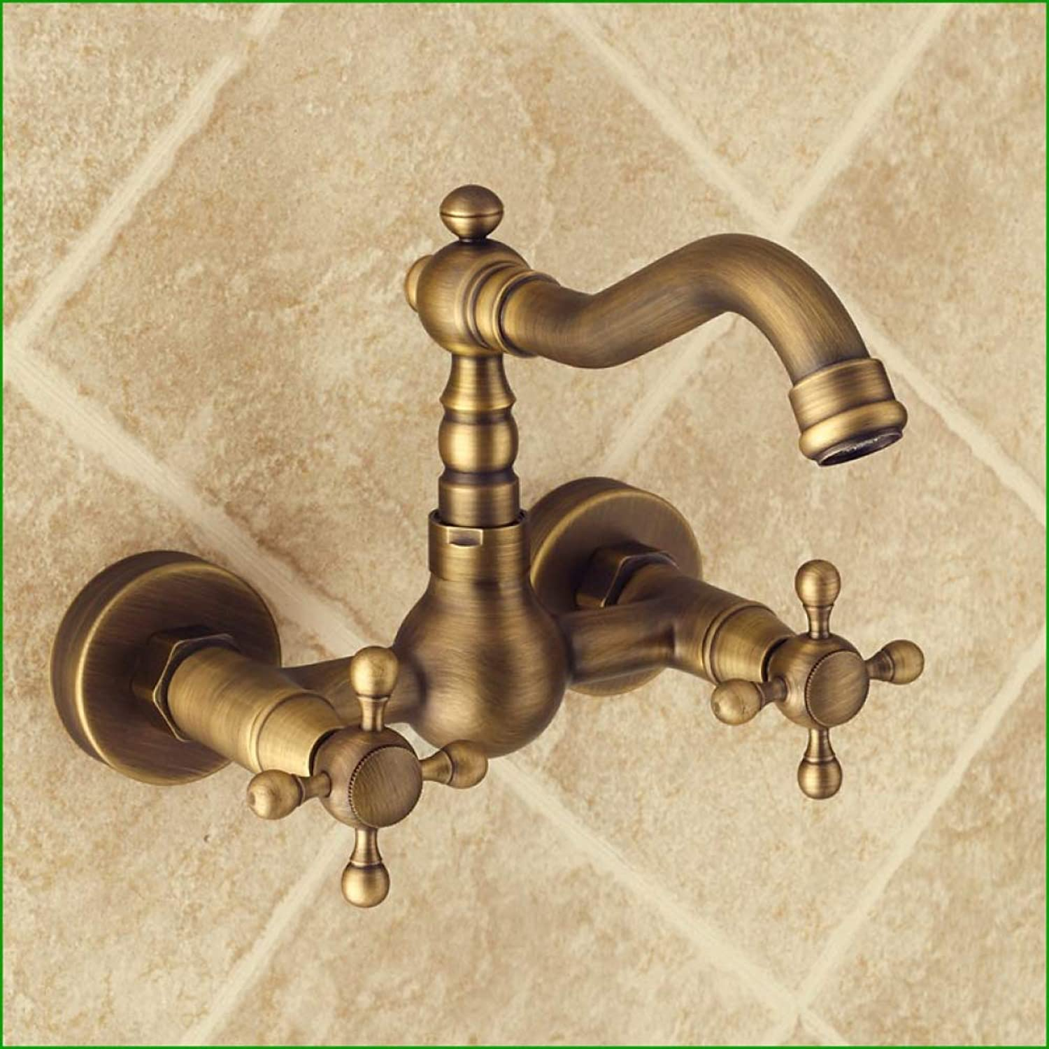 LPW faucet all copper wall high-end retro faucet hot cold mixed water redating faucet