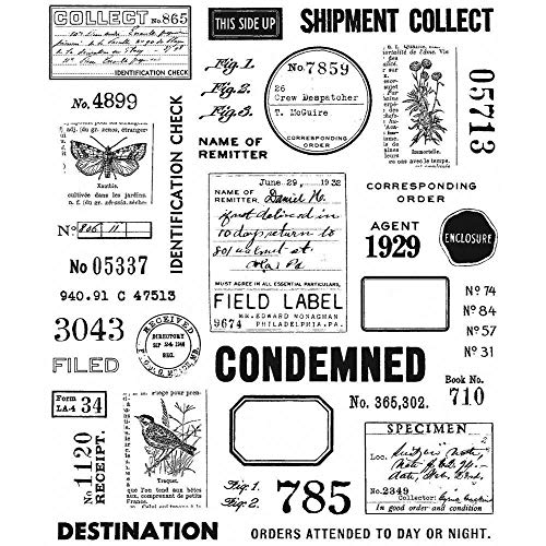 Field Notes Tim Holtz Cling Stamps