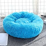 Aliuciku Cama para Perros Camas para Gatos Camas Largas De Felpa para Donas Cama Relajante para Mascotas Cojín para Perros Pequeños Y Grandes (Color : Blue, Size : XXL-100cm)